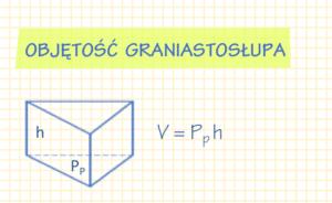 wzór na objętość graniastosłupa