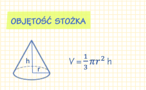 Wzór na objętość stożka